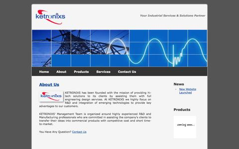 Screenshot of About Page ketronixs.com - Ketronixs Sdn Bhd - Electronic Design Services - captured Oct. 6, 2014