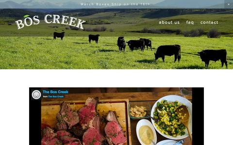 Screenshot of About Page theboscreek.com - About Us — Bos Creek - captured March 14, 2016