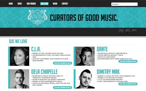Screenshot of Team Page themusictrust.com - Djs Archive | The Music Trust | Official WebsiteThe Music Trust | Official Website - captured Oct. 9, 2014