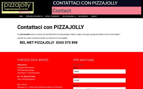 Screenshot of Contact Page pizzajolly.nl - Contact - captured July 24, 2018
