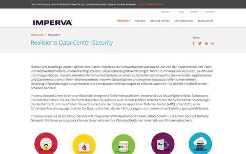 Screenshot of Products Page imperva.de - Data Center Sicherheit Realisierte – Produktübersicht fur Imperva - captured March 2, 2016