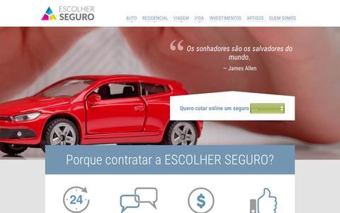 Screenshot of Home Page escolherseguro.com.br - O melhor seguro para você   Escolher Seguro - captured July 14, 2016