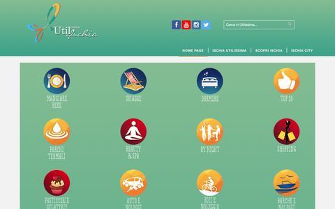 Screenshot of Home Page ischiautilissima.it - Ischia Utilissima — La guida dell'isola verde - captured Dec. 5, 2016