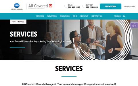 Screenshot of Services Page allcovered.com - Services - All Covered - captured Aug. 13, 2019