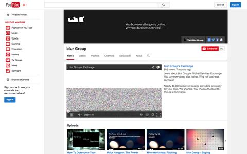 Screenshot of YouTube Page youtube.com - blur Group  - YouTube - captured Oct. 22, 2014