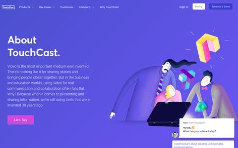 Screenshot of Team Page touchcast.com - Nitai says… - captured Nov. 8, 2018