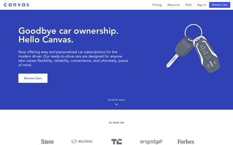 Screenshot of Home Page joinbreeze.com - Canvas - A simple alternative to car ownership - captured May 18, 2018