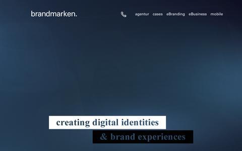 Screenshot of Menu Page brandmarken.de - brandmarken hamburg | Agentur für Kommunikation GmbH - captured March 16, 2016