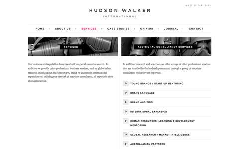 Screenshot of Services Page hudsonwalker.com - Hudson Walker | Luxury Retail Recruitment Agency London - captured Oct. 3, 2014