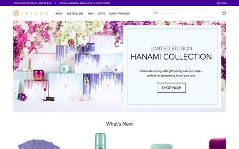 Screenshot of Home Page tatcha.com - Tatcha.com - captured April 21, 2018