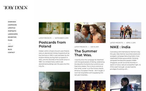 Screenshot of Blog tobydixon.com - Blog - Toby Dixon - captured Nov. 15, 2019