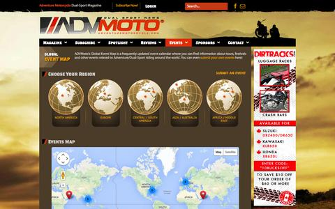 Screenshot of Maps & Directions Page adventuremotorcycle.com - Events - captured Oct. 4, 2014