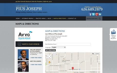 Screenshot of Maps & Directions Page usa-law.org - Maps & Directions - captured Oct. 2, 2014