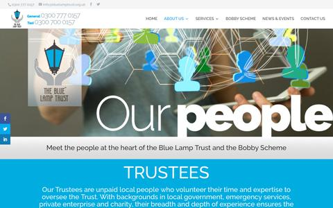 Screenshot of Team Page bluelamptrust.org.uk - OUR PEOPLE | THE BLUE LAMP TRUST - captured Oct. 20, 2018