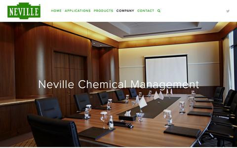 Screenshot of Team Page nevchem.com - Manufacturer of hydrocarbon resins | Neville Chemical Company - Neville Chemical Management - captured April 26, 2016