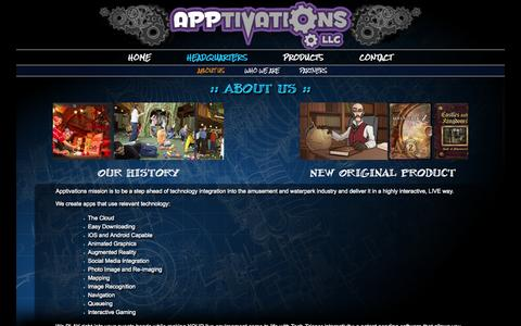 Screenshot of About Page apptivations.com - About Us - Apptivations - captured Sept. 30, 2014