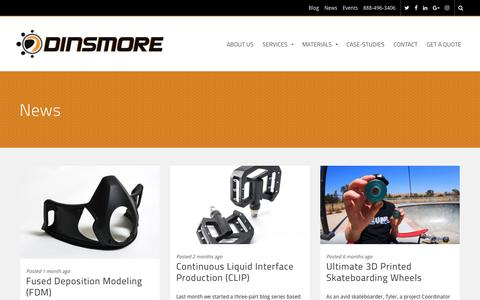Screenshot of Press Page dinsmoreinc.com - News Archives - Dinsmore, Inc. - captured March 20, 2017