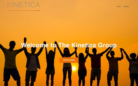 Screenshot of Home Page thekineticagroup.com - Front Page - The Kinetica Group - captured Sept. 21, 2018