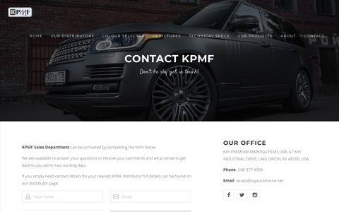 Screenshot of Contact Page kpmfusa.com - Contact - captured Feb. 4, 2018