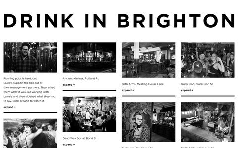 Screenshot of Home Page drinkinbrighton.co.uk - Drink in Brighton   Pubs, bars, clubs, venues and event listings - captured May 6, 2017