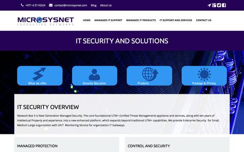 Screenshot of Products Page microsysnet.com - IT Security and Solutions Dubai, India | Managed Security Services UAE - captured Aug. 10, 2016