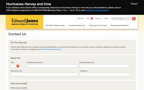 Contact Us Form   Edward Jones