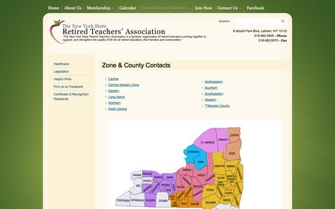Screenshot of Maps & Directions Page nysrta.org - Zone & County Contacts | NYSRTA - captured Oct. 7, 2014