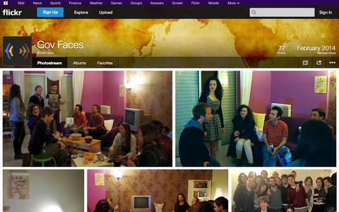 Screenshot of Flickr Page flickr.com - Flickr: #GovFaces' Photostream - captured Oct. 26, 2014