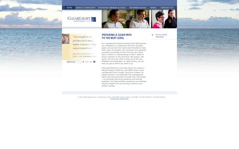 Screenshot of Home Page clearlightpartners.com - ClearLight Partners LLC - captured Sept. 29, 2014
