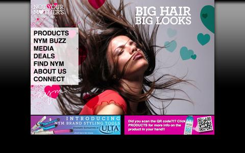 Screenshot of Home Page nymbrands.com - Not Your Mother's offers essential hairstyling products with only the best ingredients and technologies for a truly cool and unique style. - captured Sept. 23, 2014