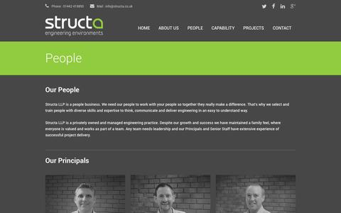 Screenshot of Team Page structa.co.uk - Structa LLP | Consulting Engineers - captured Oct. 8, 2014