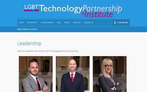 Screenshot of Team Page lgbttechpartnership.org - LGBT Technology PartnershipLeadership » LGBT Technology Partnership - captured Oct. 1, 2014