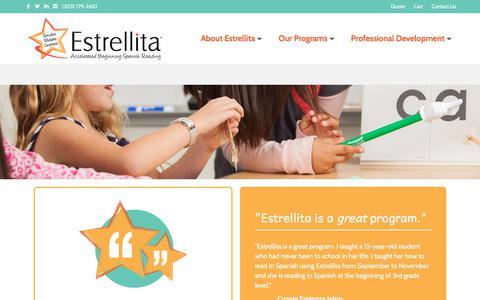 Screenshot of Testimonials Page estrellita.com - Testimonials | Estrellita - captured Aug. 23, 2017