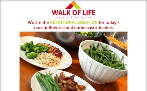 Screenshot of Home Page About Page Contact Page Services Page Pricing Page wol-nutrition.com - Walk of Life - captured Oct. 6, 2014
