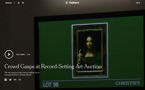 Crowd Gasps at Record-Setting Art Auction - Video - NYTimes.com