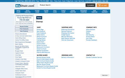 Sitemap | BizChair.com