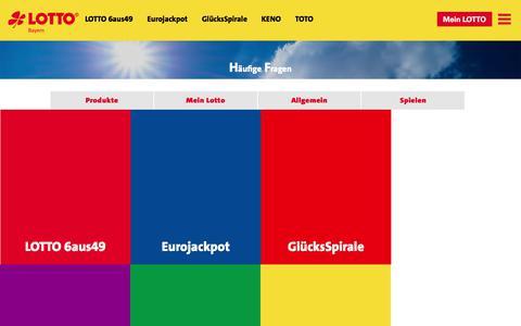 Screenshot of FAQ Page lotto-bayern.de - LOTTO Bayern - captured Nov. 20, 2017