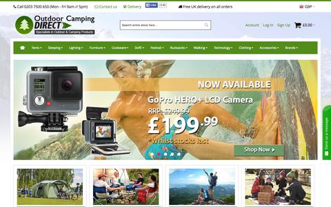 Screenshot of Home Page outdoorcampingdirect.uk - Outdoor Camping Equipment Sale  | Outdoorcampingdirect - captured Oct. 6, 2015