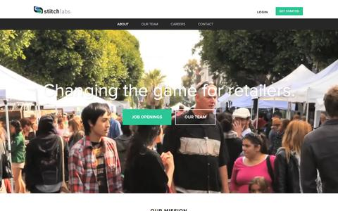 Screenshot of About Page stitchlabs.com - About Us | Stitch Labs - captured Jan. 13, 2016