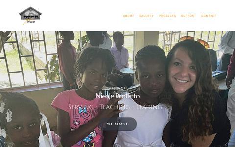 Screenshot of Home Page followmetohaiti.org - Follow me to Haiti - captured Aug. 16, 2018