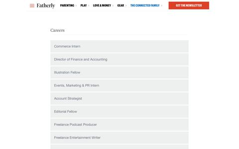 Screenshot of Jobs Page fatherly.com - Careers - Fatherly - captured May 3, 2019