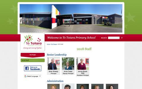 Screenshot of Team Page tetotara.school.nz - 2018 Staff - captured March 6, 2018