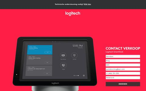 Screenshot of Landing Page logitech.com - Logitech SmartDock | Contact Us - captured March 2, 2018