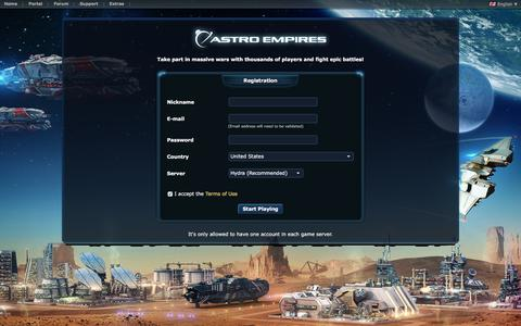 Screenshot of Signup Page astroempires.com - Signup - captured June 20, 2017