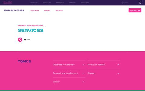 Screenshot of Services Page emdgroup.com - Services for semiconductors partners   Merck KGaA, Darmstadt, Germany - captured Oct. 18, 2018