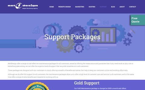 Screenshot of Support Page net9design.com - Support | Website Design Gloucester - captured Sept. 29, 2015