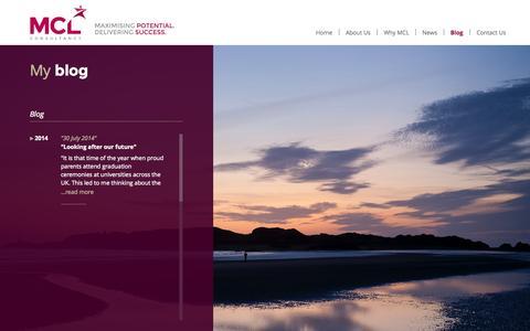 Screenshot of Blog mickcook.com - Blog « MCL Consultancy - captured Oct. 27, 2014