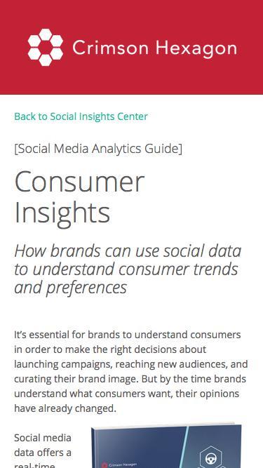 Consumer Insights Guide | Consumer Insights From Social Analytics