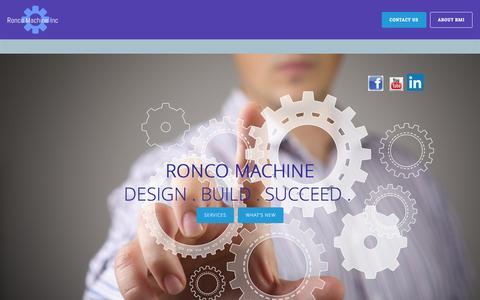 Screenshot of Home Page roncomachine.com - HOME - Ronco Machine, Inc. - captured Feb. 15, 2016