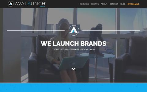 Screenshot of Home Page avalaunchmedia.com - Full Service Digital Marketing Agency | Avalaunch Media - captured Jan. 29, 2018